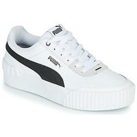 Chaussures Femme Baskets basses Puma CARINA LIFT Blanc / Noir / Gris