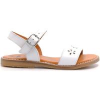 Chaussures Fille Sandales et Nu-pieds Boni & Sidonie Sandales en cuir à boucles - JACINTHE Blanche