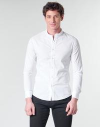 Kleidung Herren Langärmelige Hemden Yurban MASS Weiß