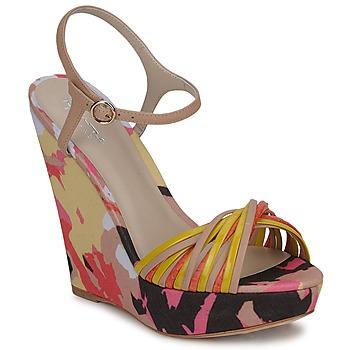 Scarpe Donna Sandali Bourne KARMEL Beige / Multicolore