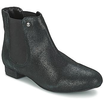 Schuhe Damen Boots Elle MABILLON Schwarz / Leuchtend