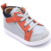 Chaussures Garçon Baskets montantes Shoo Pom bouba bi zip Gris