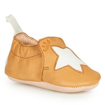 Schuhe Kinder Hausschuhe Easy Peasy BLUMOO ETOILE Kognac