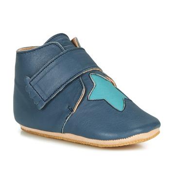 Schuhe Kinder Hausschuhe Easy Peasy KINY ETOILE MOU DENIM-AQUA MOU/PATIN