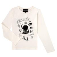 Vêtements Fille T-shirts manches longues Emporio Armani 6H3T01-3J2IZ-0101