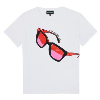 Vêtements Fille T-shirts manches courtes Emporio Armani 6H3T7T-3J2IZ-0100