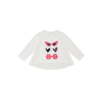 Vêtements Fille T-shirts manches longues Emporio Armani 6HEM01-3J2IZ-0101