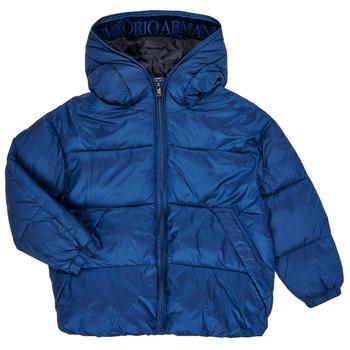 Kleidung Jungen Daunenjacken Emporio Armani 6H4BF9-1NLYZ-0975 Marineblau