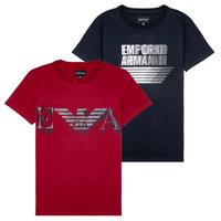 Vêtements Garçon T-shirts manches courtes Emporio Armani 6H4D22-4J09Z-0353