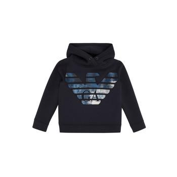 Kleidung Jungen Sweatshirts Emporio Armani 6H4MA9-1JDSZ-0920 Marineblau
