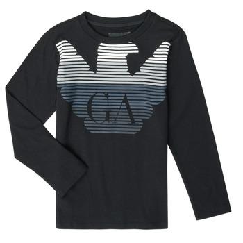 Vêtements Garçon T-shirts manches longues Emporio Armani 6H4T17-1J00Z-0999