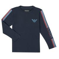 Kleidung Jungen Langarmshirts Emporio Armani 6H4TJD-1J00Z-0920 Marineblau