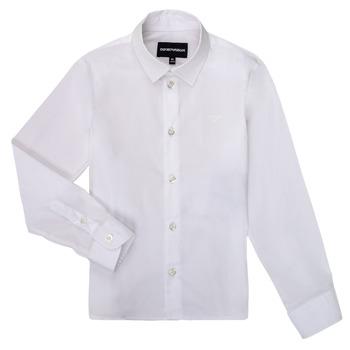 Vêtements Garçon Chemises manches longues Emporio Armani 8N4CJ0-1N06Z-0100