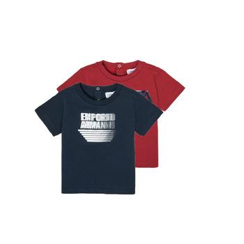 Vêtements Garçon T-shirts manches courtes Emporio Armani 6HHD22-4J09Z-0353