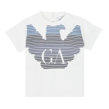 Vêtements Garçon T-shirts manches courtes Emporio Armani 6HHTQ7-1J00Z-0101