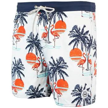 Vêtements Homme Maillots / Shorts de bain Waxx Short de bain SUNSET Blanc