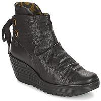 Schuhe Damen Low Boots Fly London YAMA Schwarz