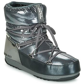 Schuhe Damen Schneestiefel Moon Boot MOON BOOT LOW SAINT MORITZ WP Grau