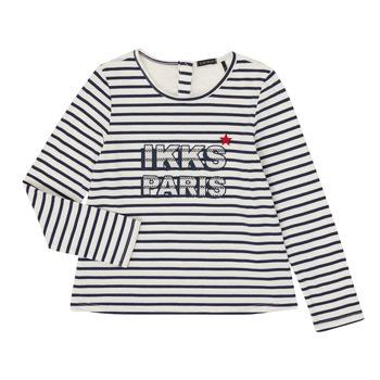 Kleidung Mädchen Langarmshirts Ikks XR10052 Weiß