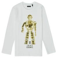 Kleidung Jungen Langarmshirts Ikks XR10233 Weiß