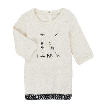 Kleidung Mädchen Kurze Kleider Ikks XR30180 Beige