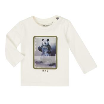 Kleidung Jungen Langarmshirts Ikks XR10101 Weiß