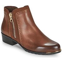 Schuhe Damen Boots Caprice 25403-313 Kognac