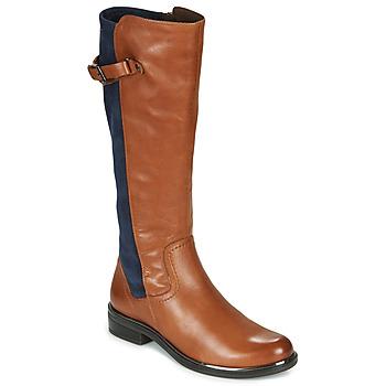 Schuhe Damen Klassische Stiefel Caprice 25504-387 Kognac / Blau