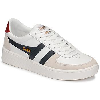 Schuhe Herren Sneaker Low Gola GRANDSLAM CLASSIC Weiß / Marineblau