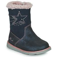 Chaussures Fille Bottes ville Tom Tailor 72307-BLEU