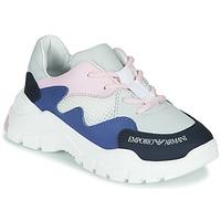 Schuhe Jungen Sneaker Low Emporio Armani XYX008-XOI34 Weiß / Blau