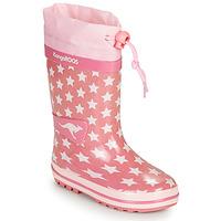Chaussures Fille Bottes de pluie Kangaroos K-RAIN Rose