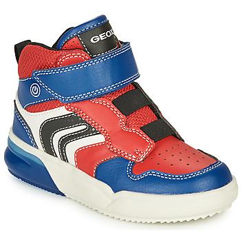 Chaussures Garçon Baskets montantes Geox GRAYJAY