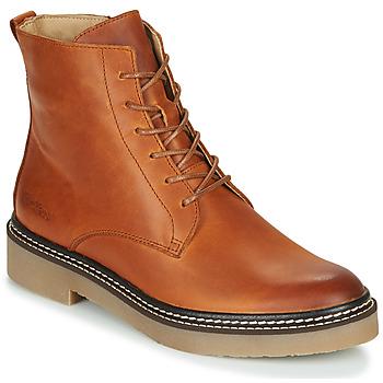 Schuhe Damen Boots Kickers OXIGENO Kamel / Orange