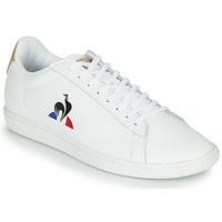 Schuhe Herren Sneaker Low Le Coq Sportif COURTSET Weiß / Kognac