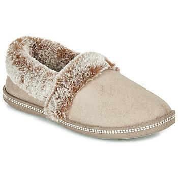 Schuhe Damen Hausschuhe Skechers COZY CAMPFIRE Beige