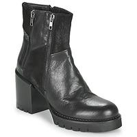 Chaussures Femme Bottines Café Noir JOEL