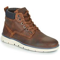 Chaussures Garçon Boots Jack & Jones JR TUBAR LEATHER Marron
