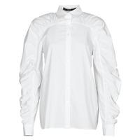 Kleidung Damen Hemden Karl Lagerfeld POPLIN BLOUSE W/ GATHERING