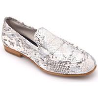 Chaussures Femme Mocassins Reqin's elda python Argenté