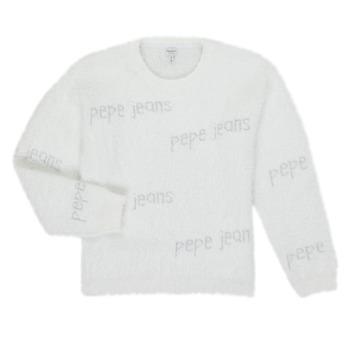 Kleidung Mädchen Pullover Pepe jeans AUDREY Weiß
