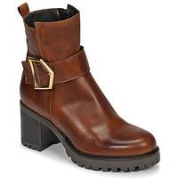 Schuhe Damen Low Boots Sweet Lemon PIRLOU Kognac