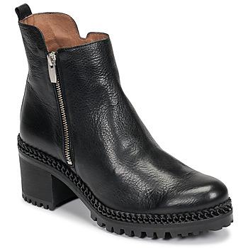 Chaussures Femme Bottines Wonders H3924-VACHETA-NEGRO