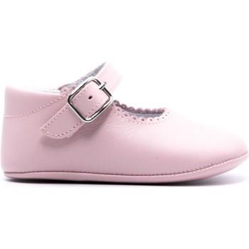 Chaussures Fille Chaussons bébés Boni & Sidonie Chaussons bébé cuir souple - ALIX Rose