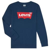 Kleidung Jungen Langarmshirts Levi's BATWING TEE LS Blau