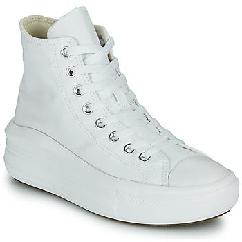 Schuhe Damen Sneaker High Converse Chuck Taylor All Star Move Canvas Color Hi Weiß