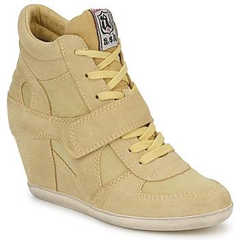Chaussures Femme Baskets montantes Ash BOWIE Jaune pastel
