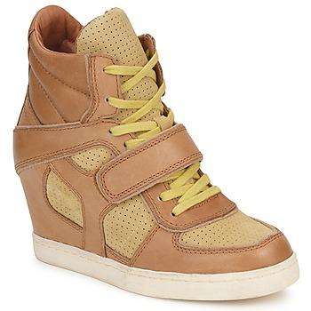 Chaussures Femme Baskets montantes Ash COCA Marron / Jaune