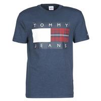 Abbigliamento Uomo T-shirt maniche corte Tommy Jeans TJM PLAID CENTRE FLAG TEE