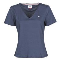 Abbigliamento Donna T-shirt maniche corte Tommy Jeans TJW SLIM JERSEY V NECK